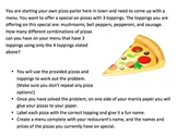 Pizza Combinations Activity