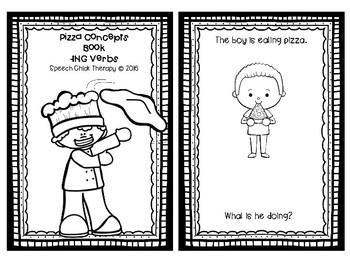 Pizza Concept Books for Speech and Language-Quantities and Plurals