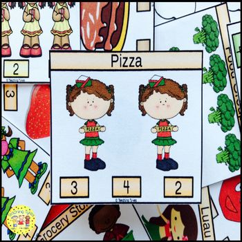 Pizza Count and Clip Task Cards