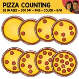 Pizza Counting Scene Clipart