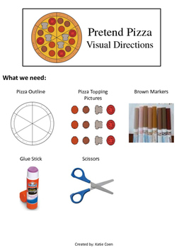 Pizza Craft - Visual Directions – Art Project