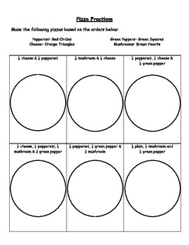Pizza Creation Fractions