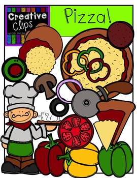 Pizza {Creative Clips Digital Clipart}
