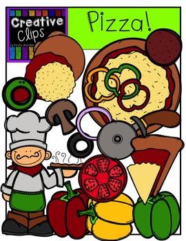 Pizza {Creative Clips Digital Clipart}