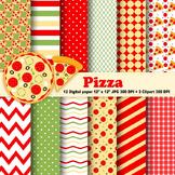 Pizza Digital Paper & Clipart