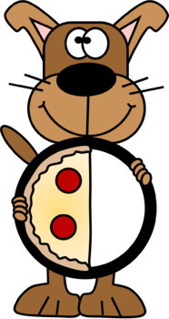 Pizza Dog Fractions Clip Art