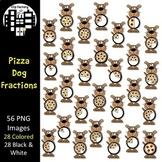 Pizza Dog Fractions Clip Art