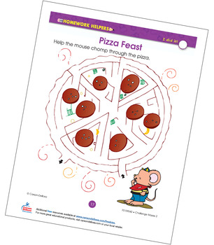 Pizza Feast Maze Grade 2 Free Printable
