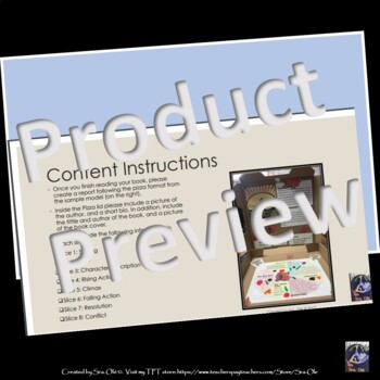 Pizza Format Book Report