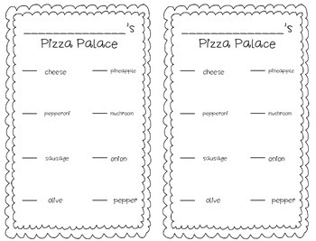 Pizza Fraction Bulletin Board Freebie