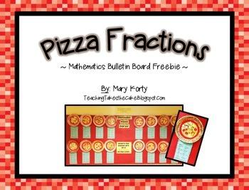 Pizza Fraction Bulletin Board Freebie