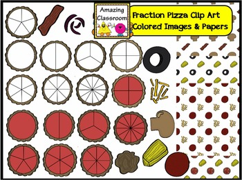 Pizza Fraction Clip Art Images - Commercial Use OK!