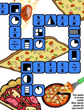 Pizza Fraction File Folder Game