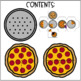 Pizza Fraction Game: Whole, Halves, & Fourths