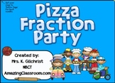 Pizza Fraction Party for Smartboard - Basic Fractions SMART Notebook Lesson