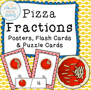 Fraction Posters, Flashcards, and Puzzle cards (Pizza theme)