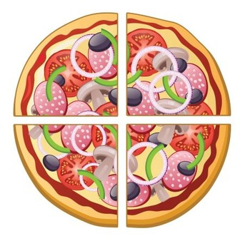 Pizza Fraction Task Cards and Puzzles
