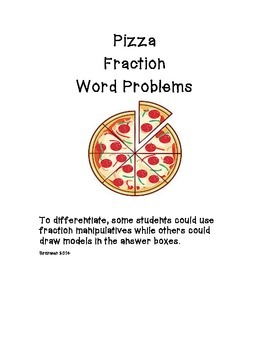 Pizza Fraction Word Problems
