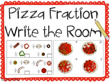 Pizza Fraction Write the Room