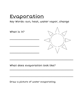 Water Cycle Packet