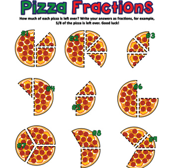 Pizza Fractions || Illustrated Game to Teach Kids Fractions using Pizza!