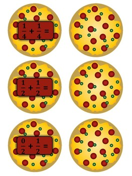 Pizza Fractions Board Game