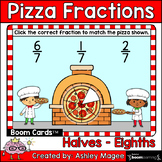 Pizza Fractions Boom Cards - Halves, Thirds, Fourths, Fift