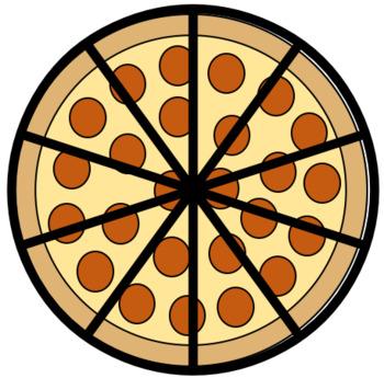 Pizza Fractions Clip Art