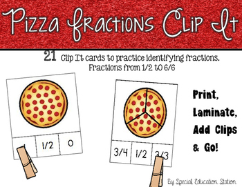 Pizza Fractions Clip It