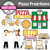 Pizza Fractions Clipart