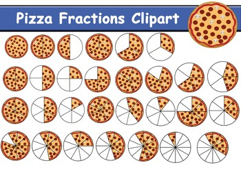 Pizza Fractions Clipart (81 clipart)