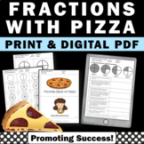 Pizza Fractions Worksheets, 3rd Grade and Special Education Math Review
