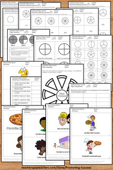 pizza fractions worksheets 3rd grade and special education math review. Black Bedroom Furniture Sets. Home Design Ideas