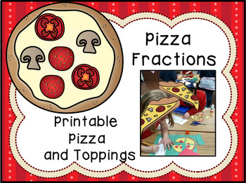photo regarding Printable Pizza Toppings known as Pizza Fractions - Craftivity