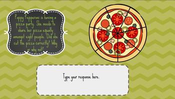 Google Slides Pizza Fractions: Interactive Practice