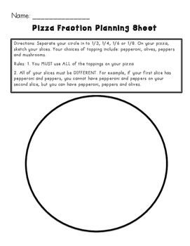 pizza fractions lesson plan with worksheets by katelyn bennett  tpt