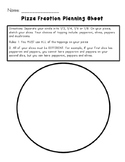 Pizza Fractions Lesson Plan with Worksheets