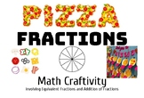 Pizza Fractions Math Craft (with Bonus Bulletin Board Printable Letters!)