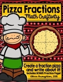 Pizza Fractions Math Craftivity & Independent Practice Page