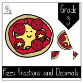 Pizza Fractions and Decimals Grade 3