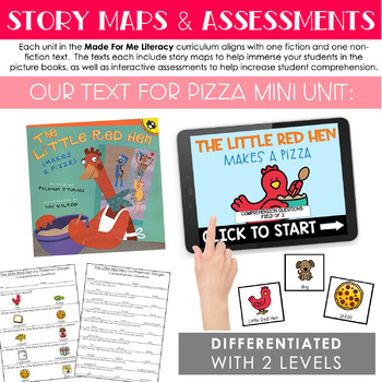 Pizza Free Mini Unit (Made For Me Literacy)