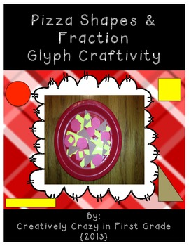 Pizza Glyph Craftivity to Teach 2D Shapes and Fractions (C