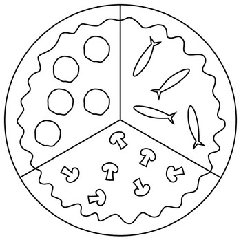 pizza graphics for fraction and counting games clipart