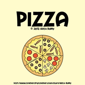 Pizza Graphics for Fraction and Counting Games - Clipart f