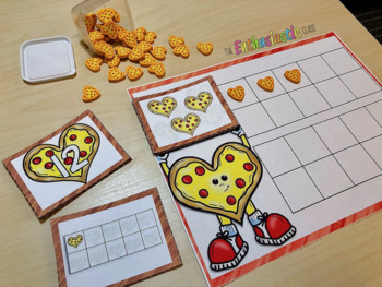 Pizza Hearts Number Sense: Ten-Frame and Number Cards 1-20