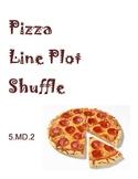 Pizza Line Plot Shuffle