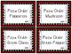 File Folder Activity - Following Steps Pizza Maker
