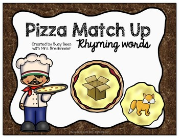 Pizza Match Up Rhyming Words