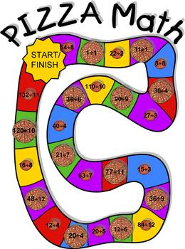 Pizza Math Addition/Subtraction, Multiplication/Division Board Game Sampler