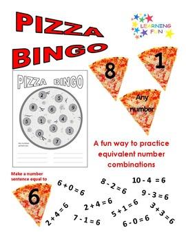 Pizza Math Bingo